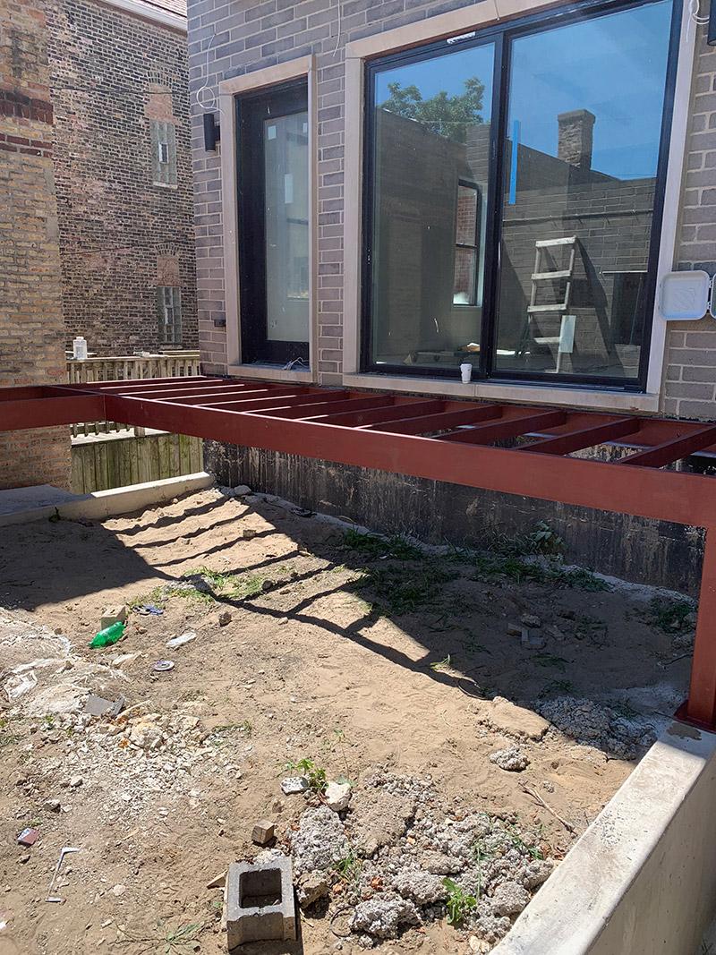 metal work porch