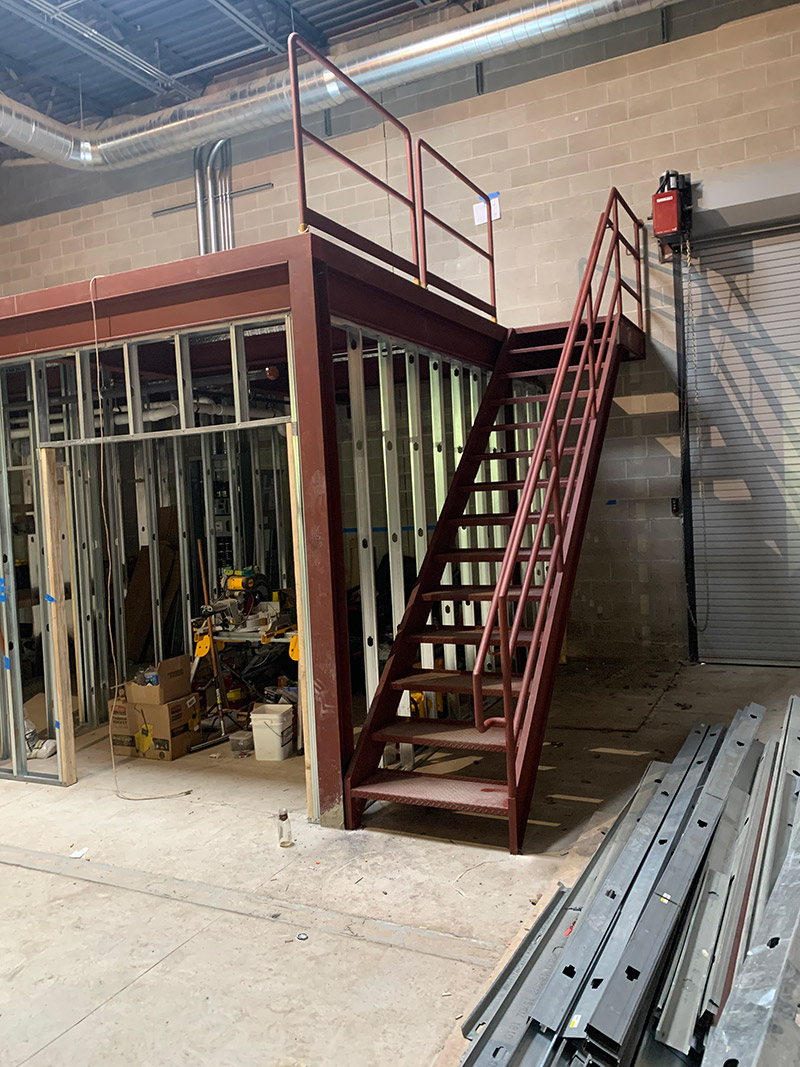custom industry iron staircases